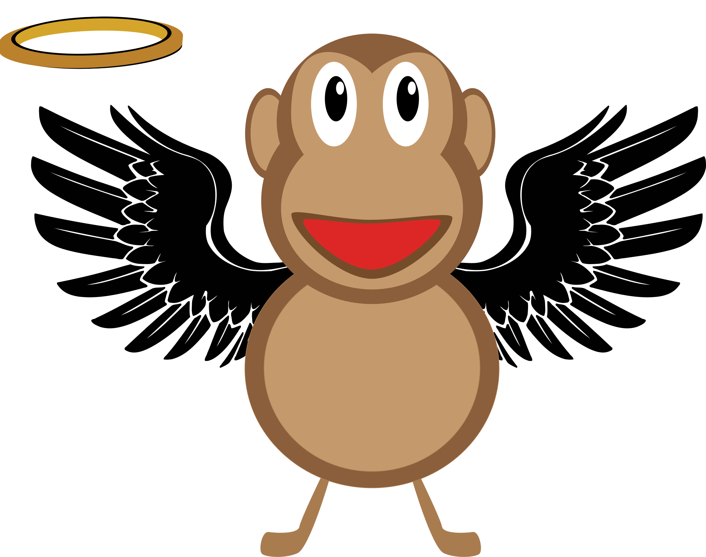 animated. Guy clipart angel