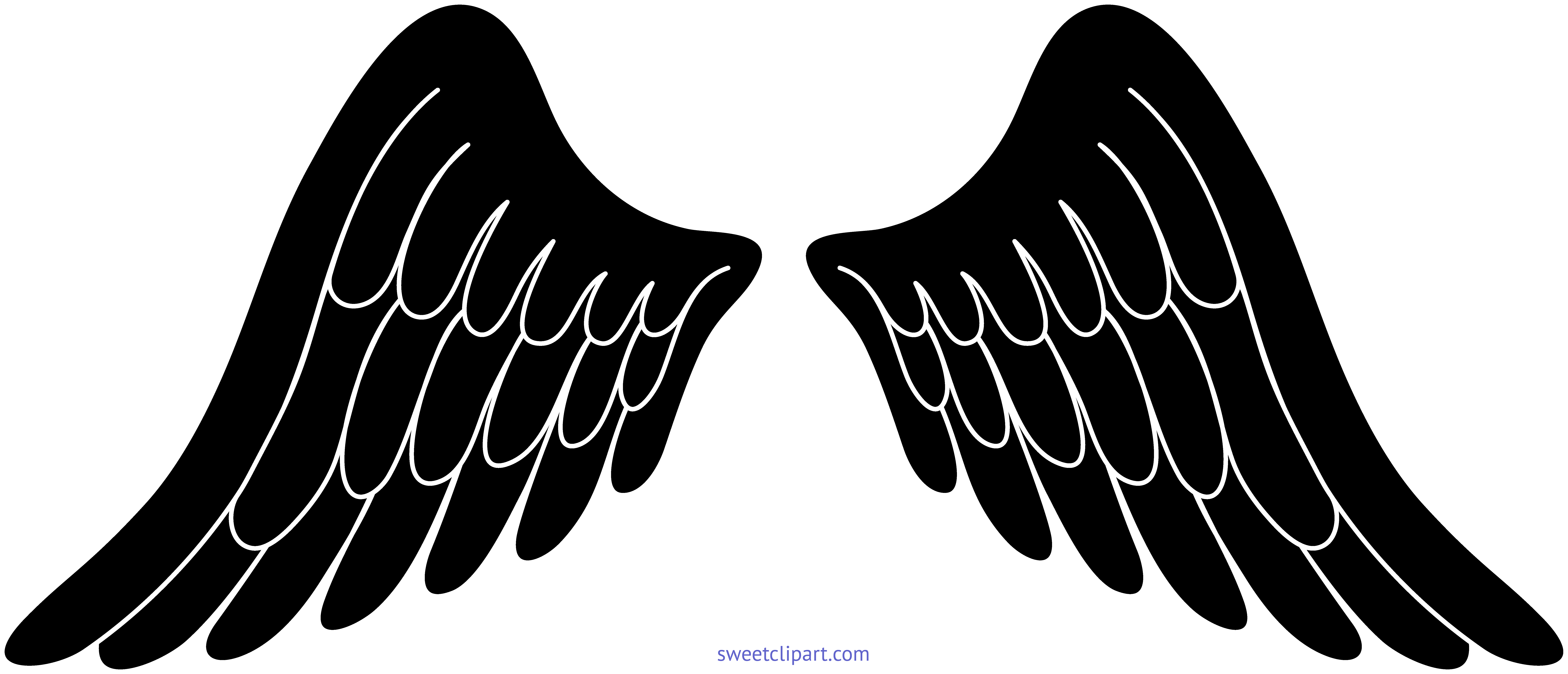 Wing clipart guitar. Angel wings black clip