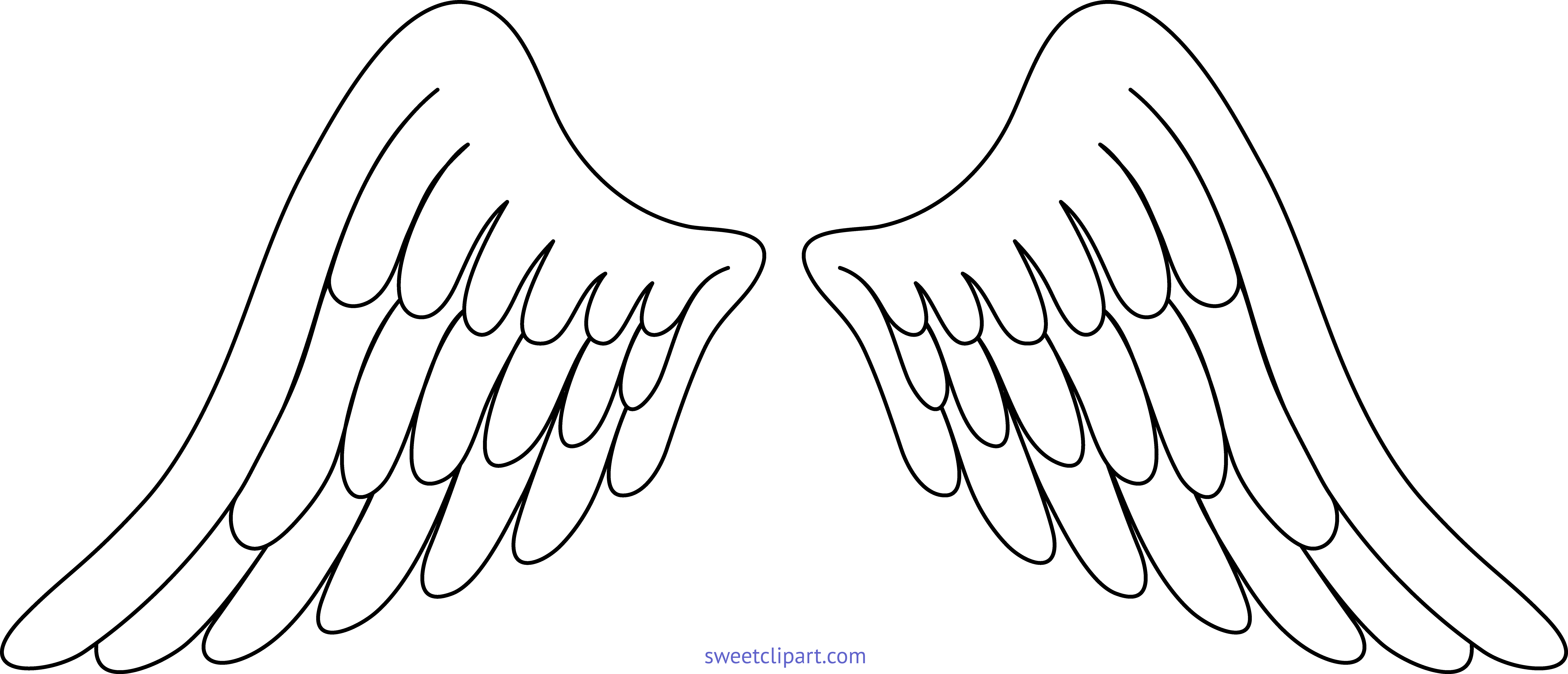 Wing clipart angel wing. Wings white clip art