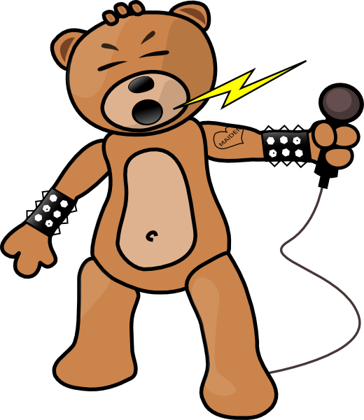 Free teddy animations rocking. Clipart bear standing