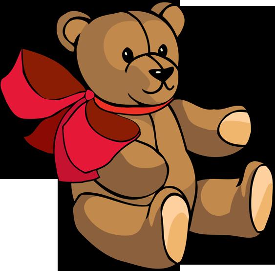 Teddy bear clip art. Sleigh clipart toy