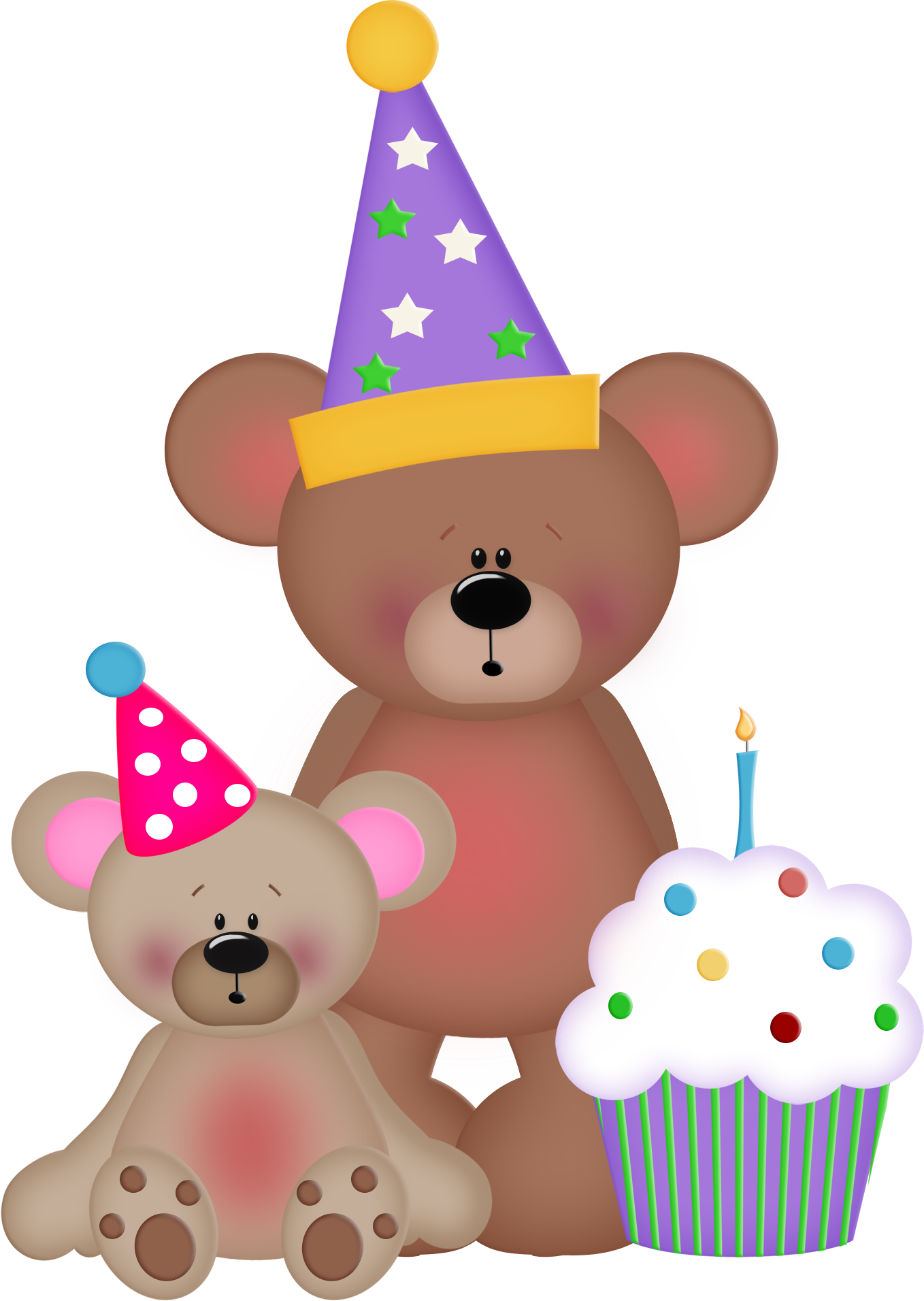 clipart cake bear