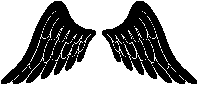 Black angel . Demon clipart wings