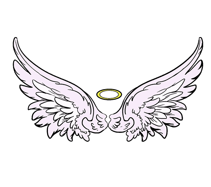 Draw clipart sketch artist. Angel wing drawing acur