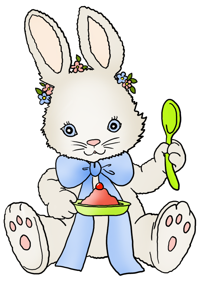 Families clipart bunny. Funny and cute easter