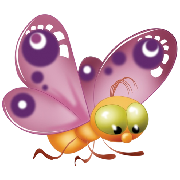 Baby cartoon clip art. Worm clipart butterfly