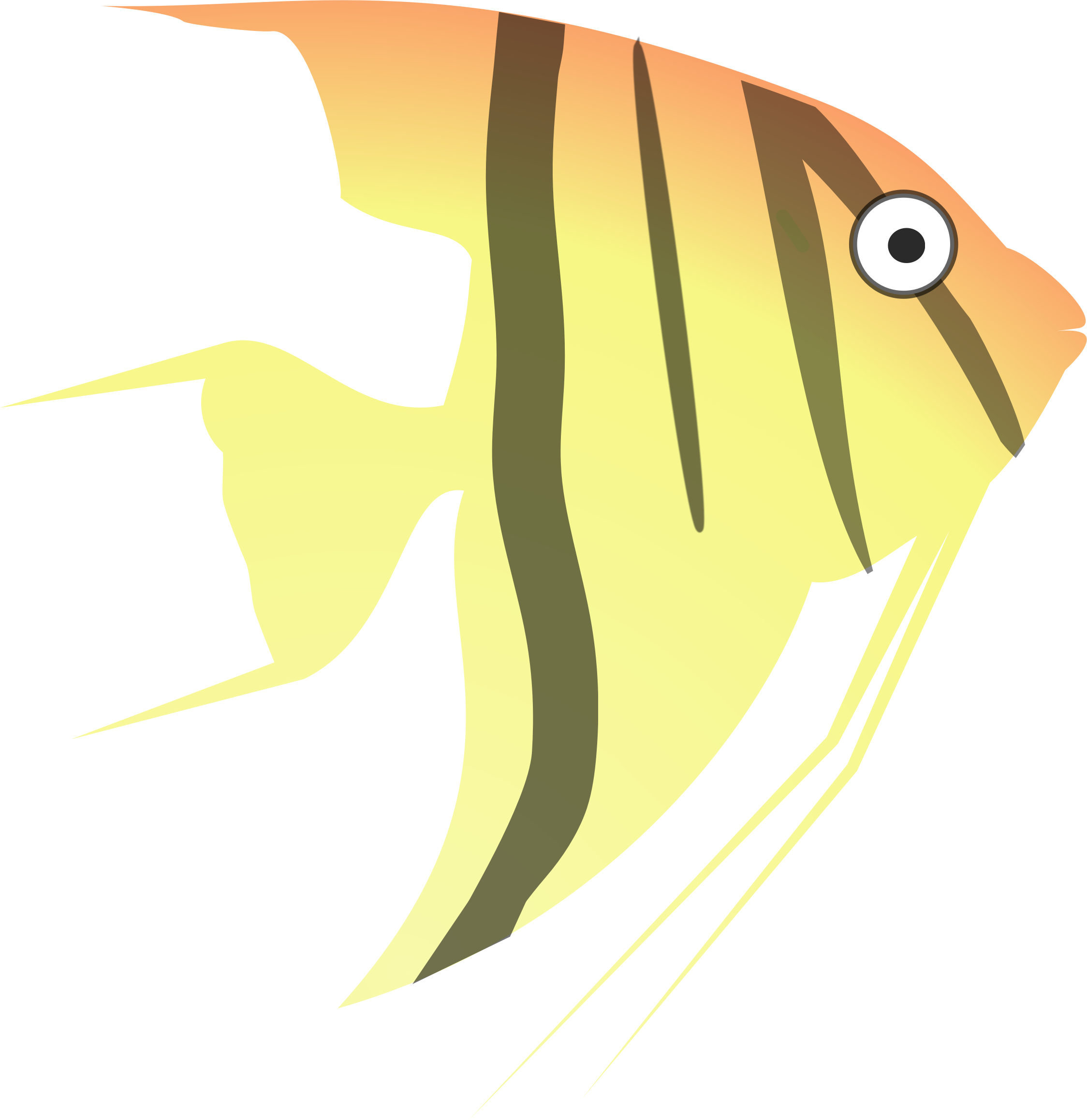 Clipart fish icon. Cartoon angel big image