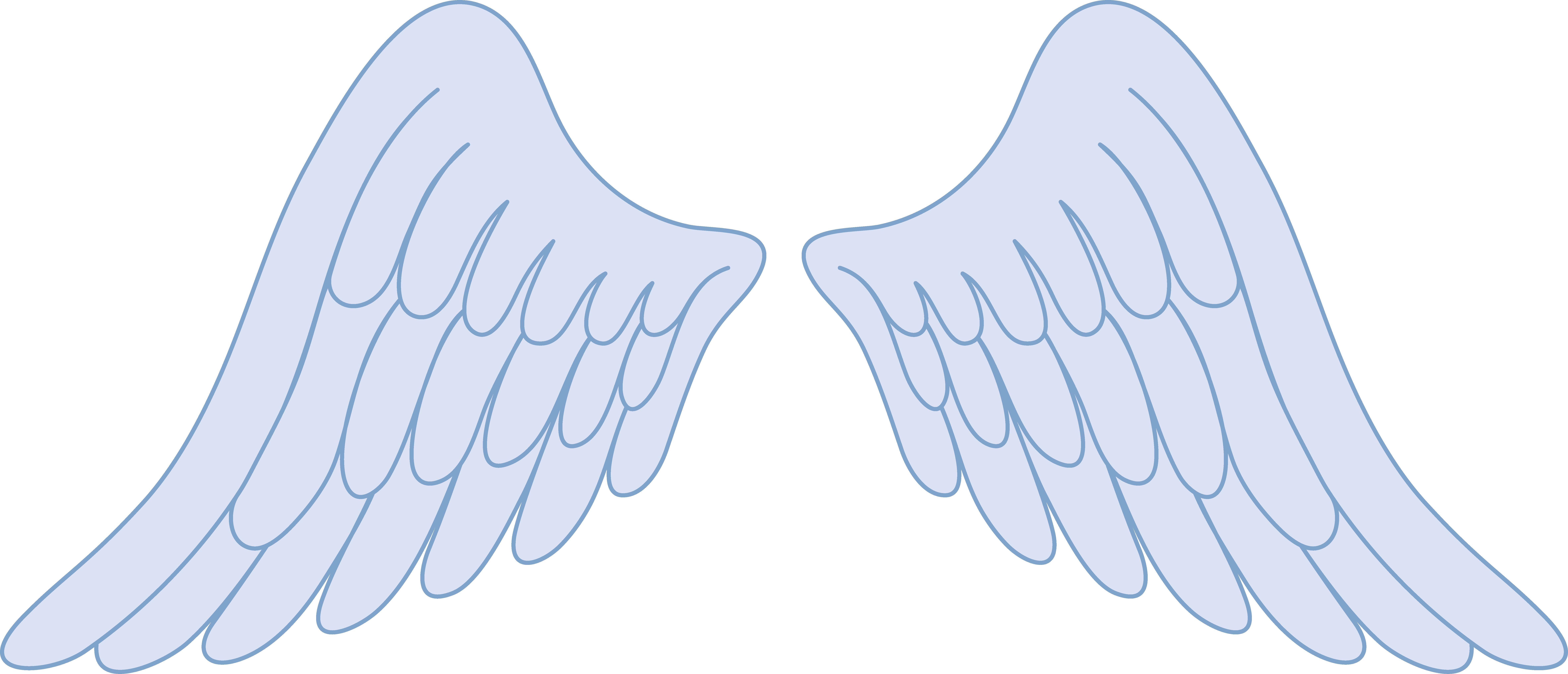 Pastel blue angel wings. Wing clipart clip art