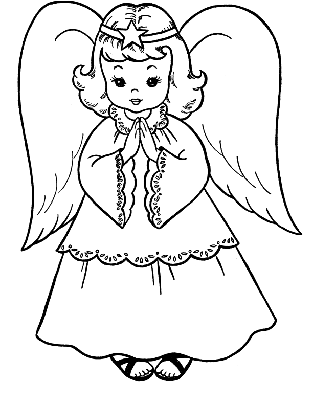 Pictures christmas coloring for. Stitch clipart angel colouring page