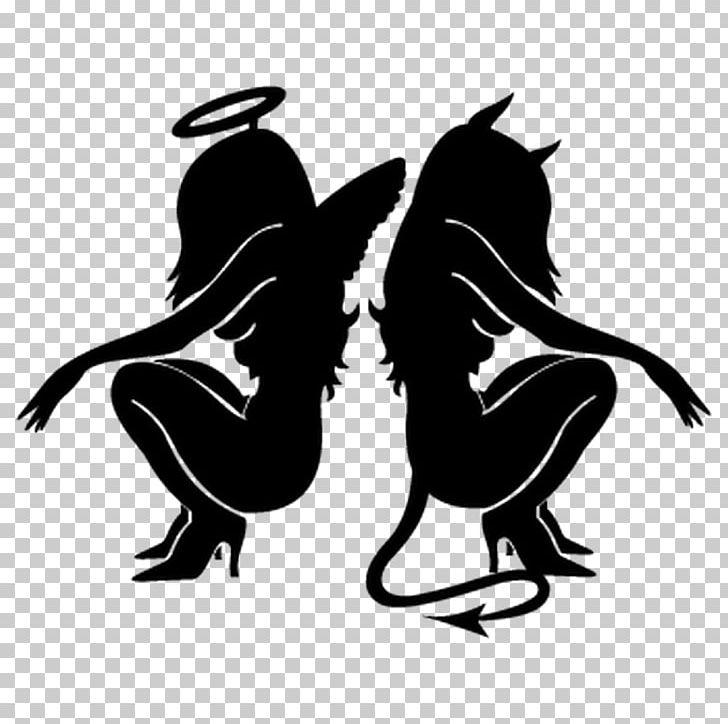 Decal angel demon png. Devil clipart sticker