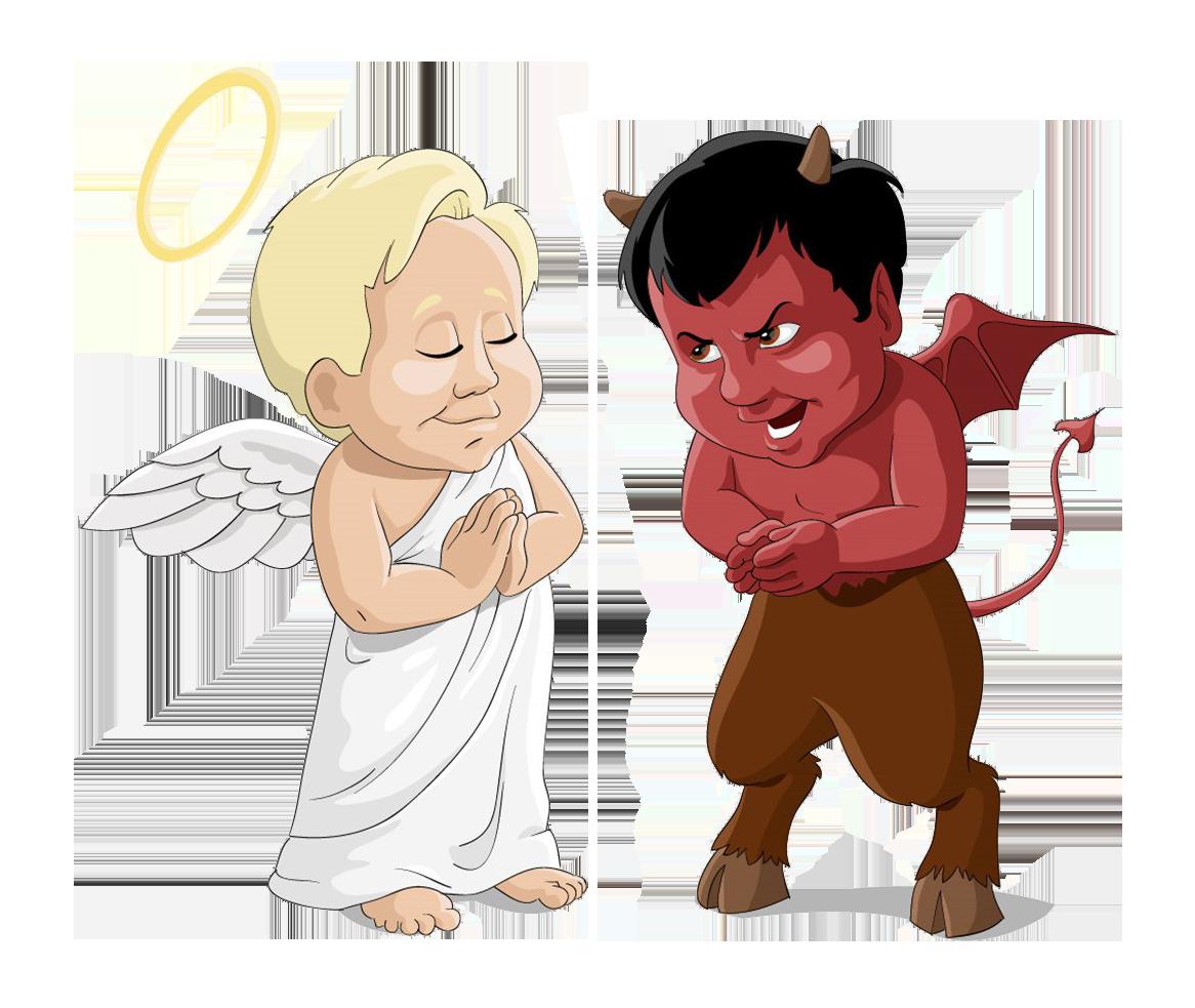 Devil clipart devil child. Angel clip art cartoon