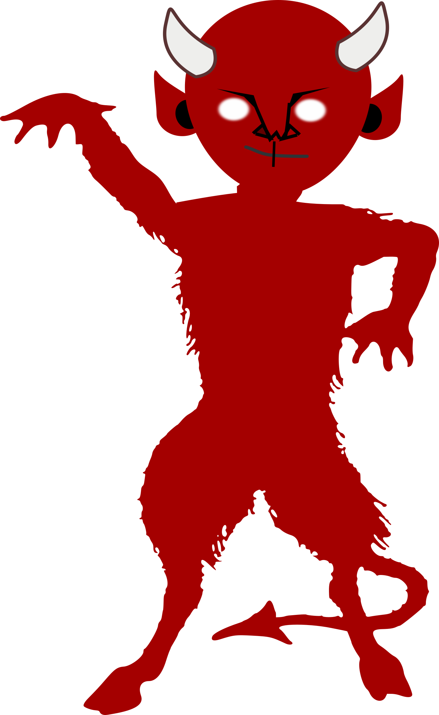 Demon silhouette at getdrawings. Horn clipart satanic
