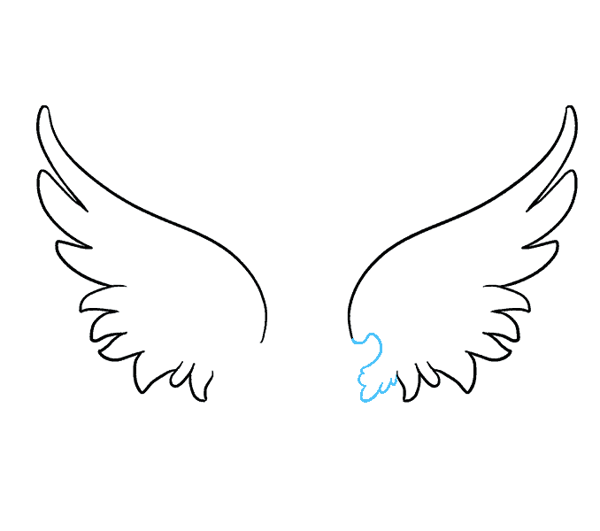 Wing drawing acur lunamedia. Angel wings vector png
