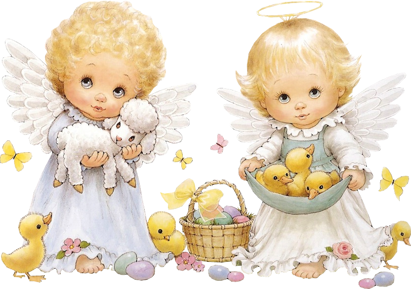 Cute easter angels printables. Fighting clipart forgiving other