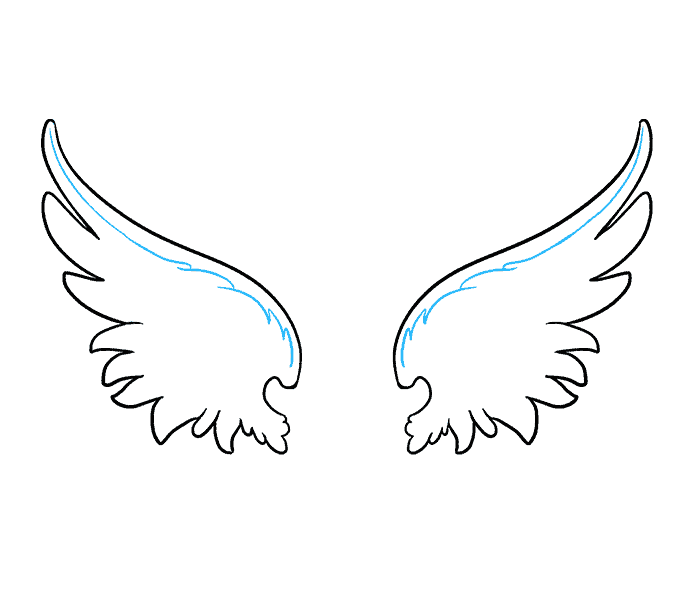 How to draw angel. Wing clipart drawable