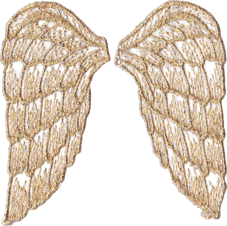 Wing clipart printable. Golden angel wings free