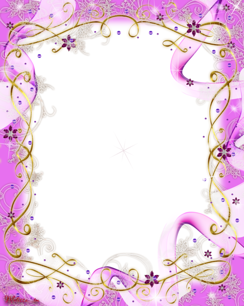Pink baw and swirls. Woodland clipart frame