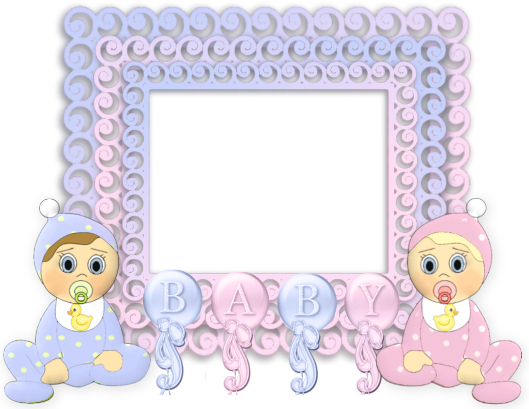 Clipart frame baby girl. Transparent pink and blue