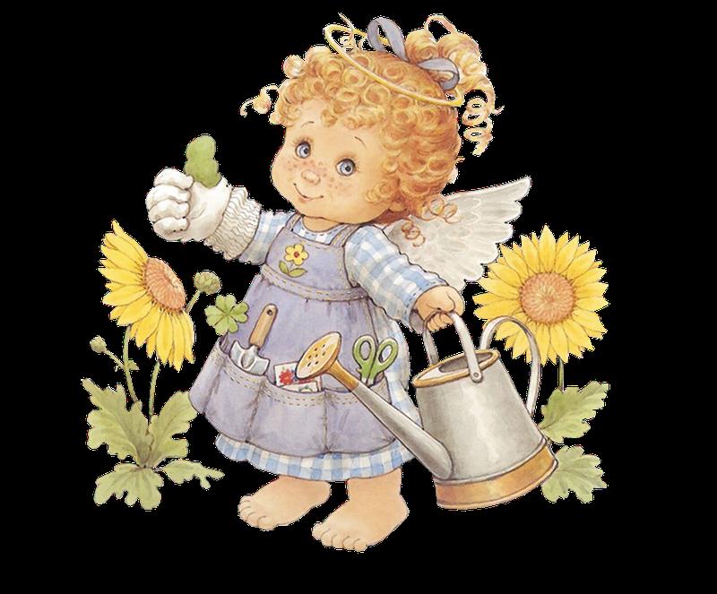 Ruth morehead baby garden. Gardener clipart little