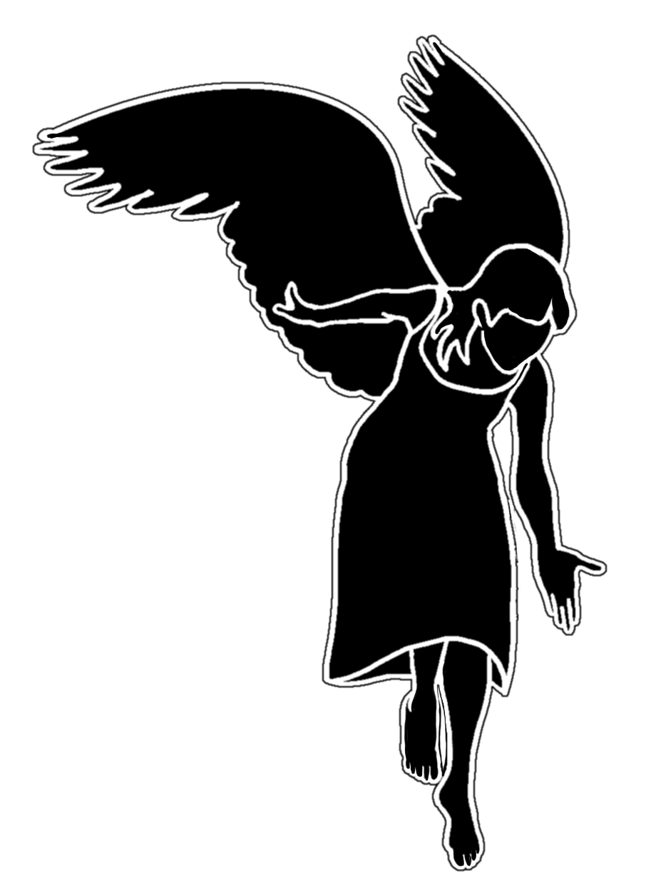 Angels silhouette at getdrawings. Wing clipart guardian angel