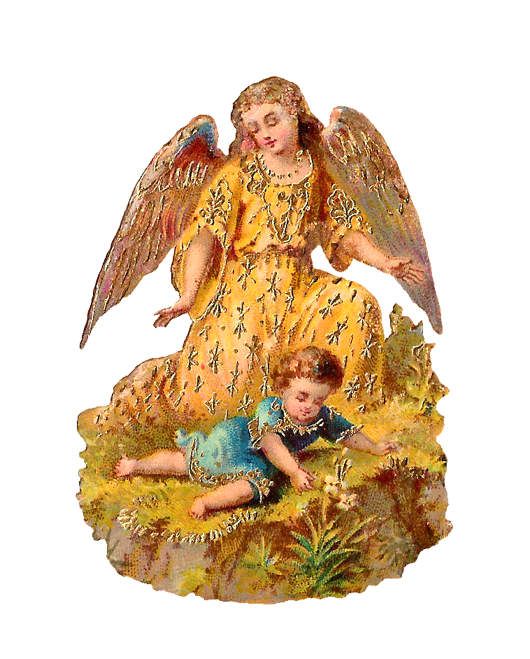 Antique images free clip. Wing clipart guardian angel