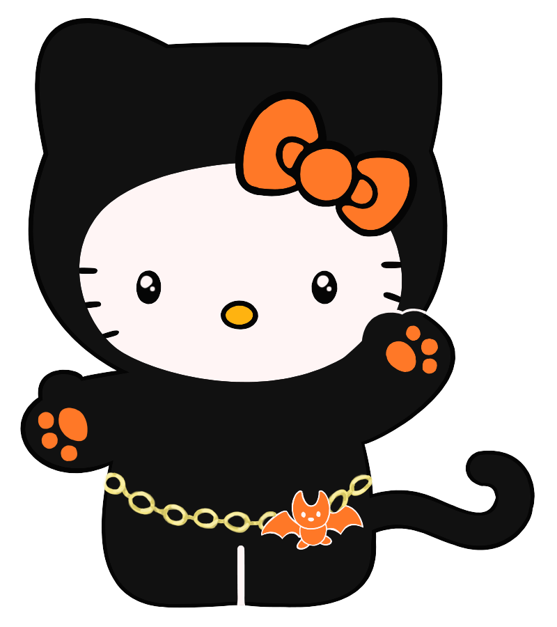 Kitty halloween clip art. Wednesday clipart hello