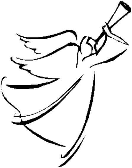 Drawing of click here. Clipart angel line art