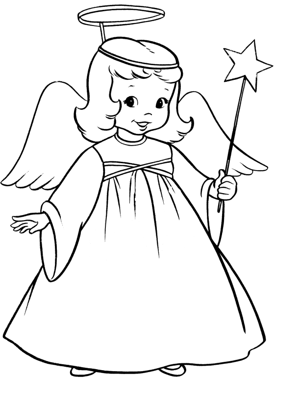 Angels line drawing at. Outline clipart angel