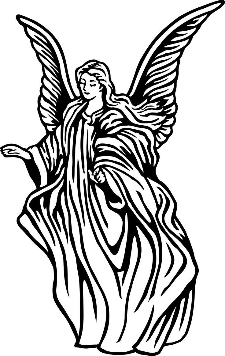 Free download best . Clipart angel line art
