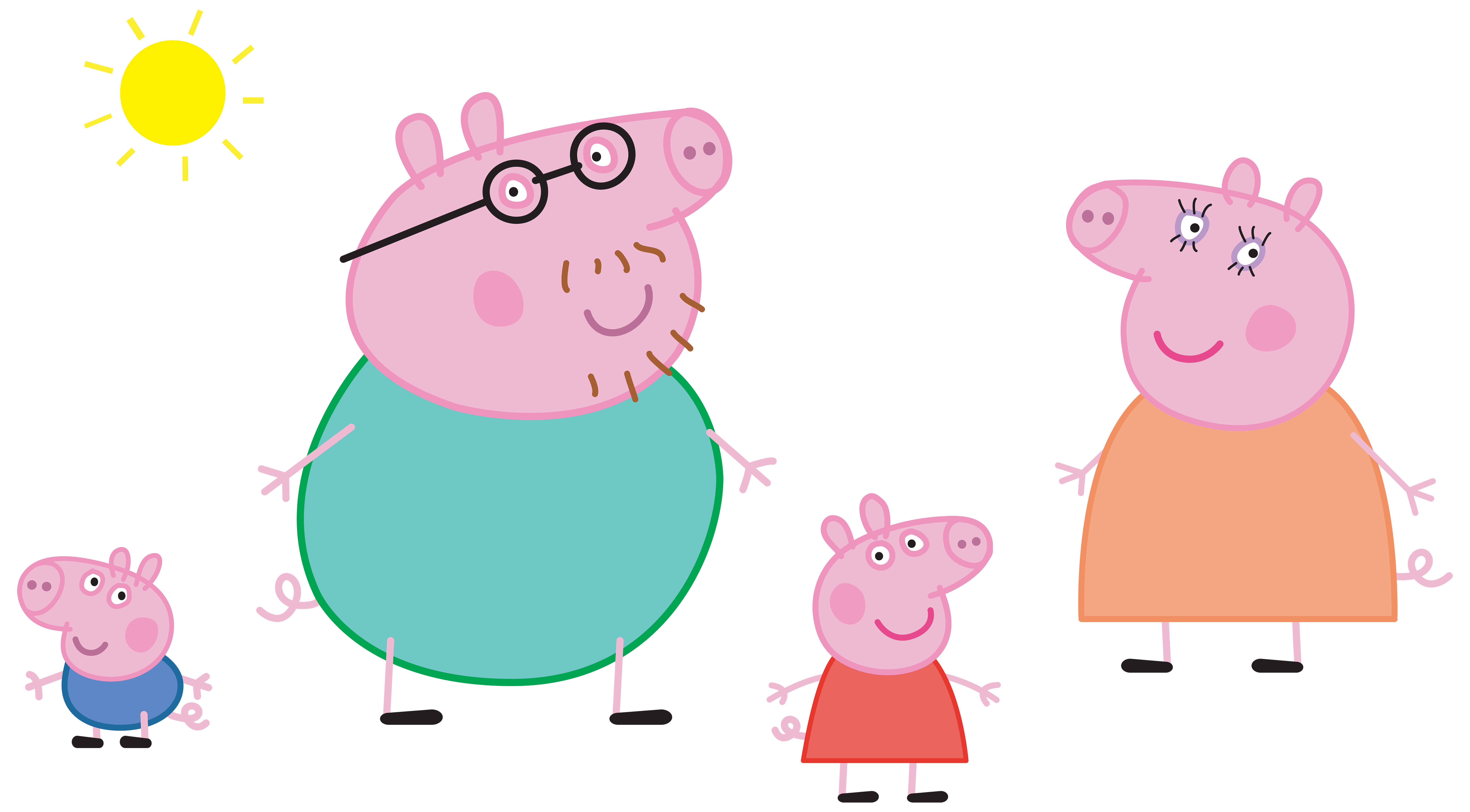Hunting clipart family. Peppa pig logo transparent