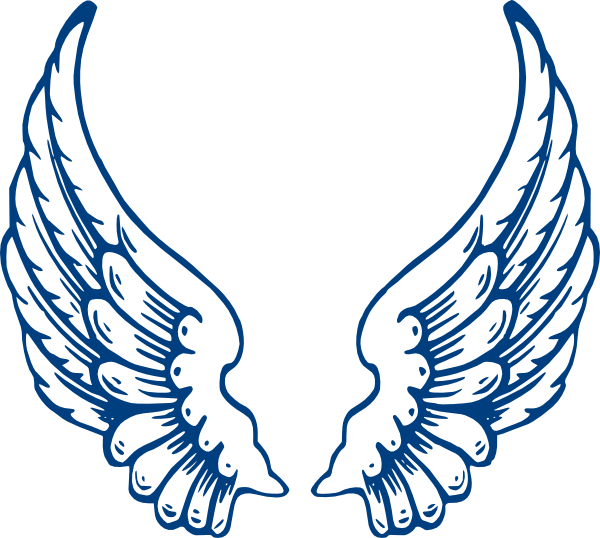 Outline clipart angel. Wings free clip art