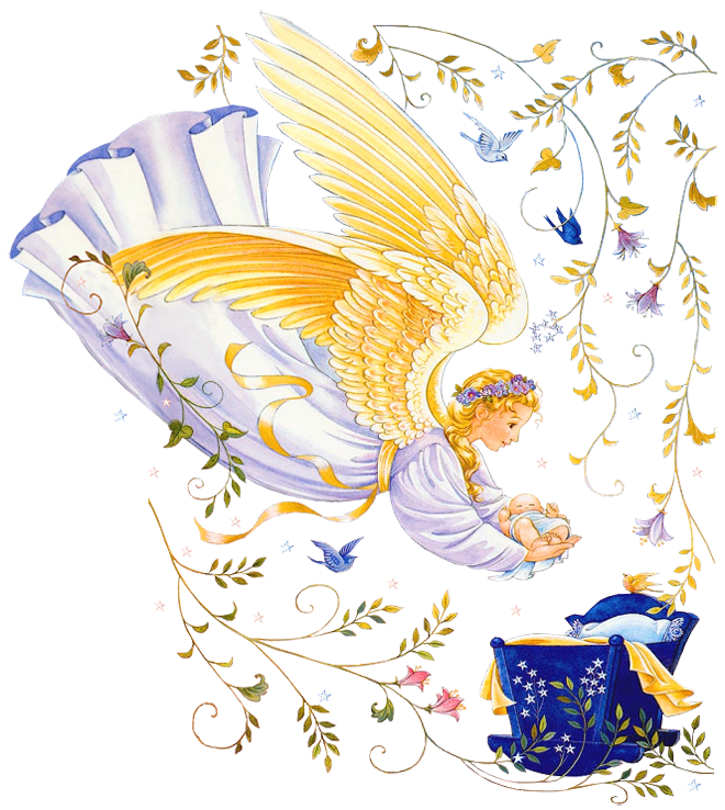 With baby png picture. Clipart rainbow angel