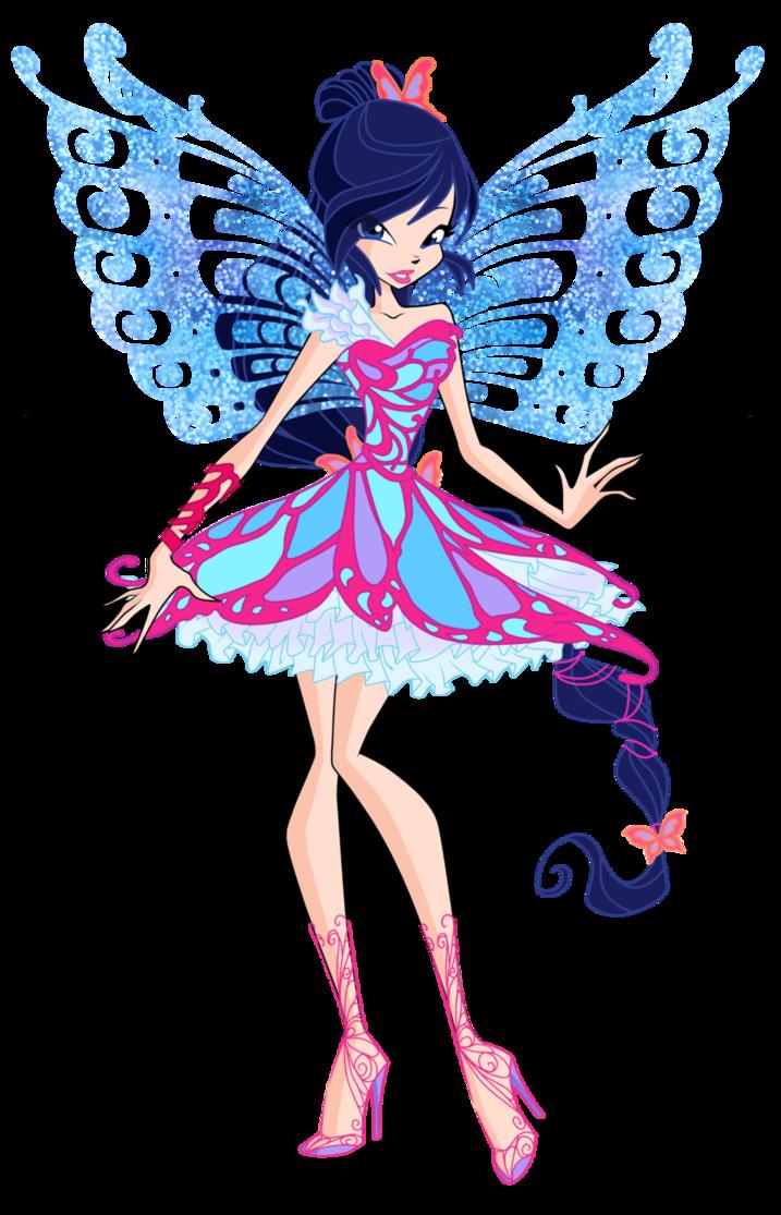 Official musa butterflix by. Fairies clipart love