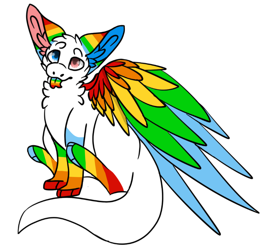 Request the dragon by. Clipart rainbow angel