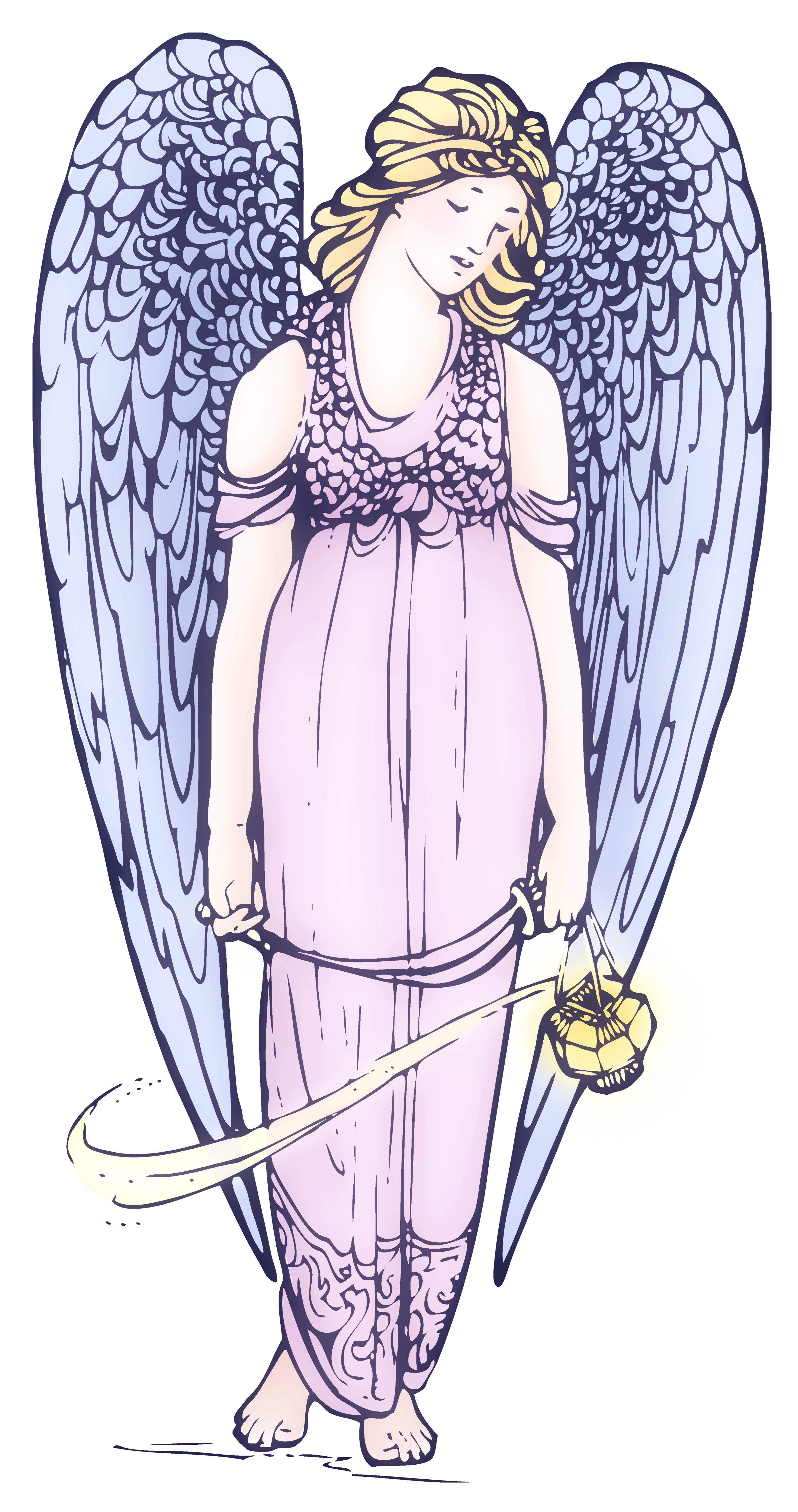 Wing clipart public domain. Lovely angel free clip