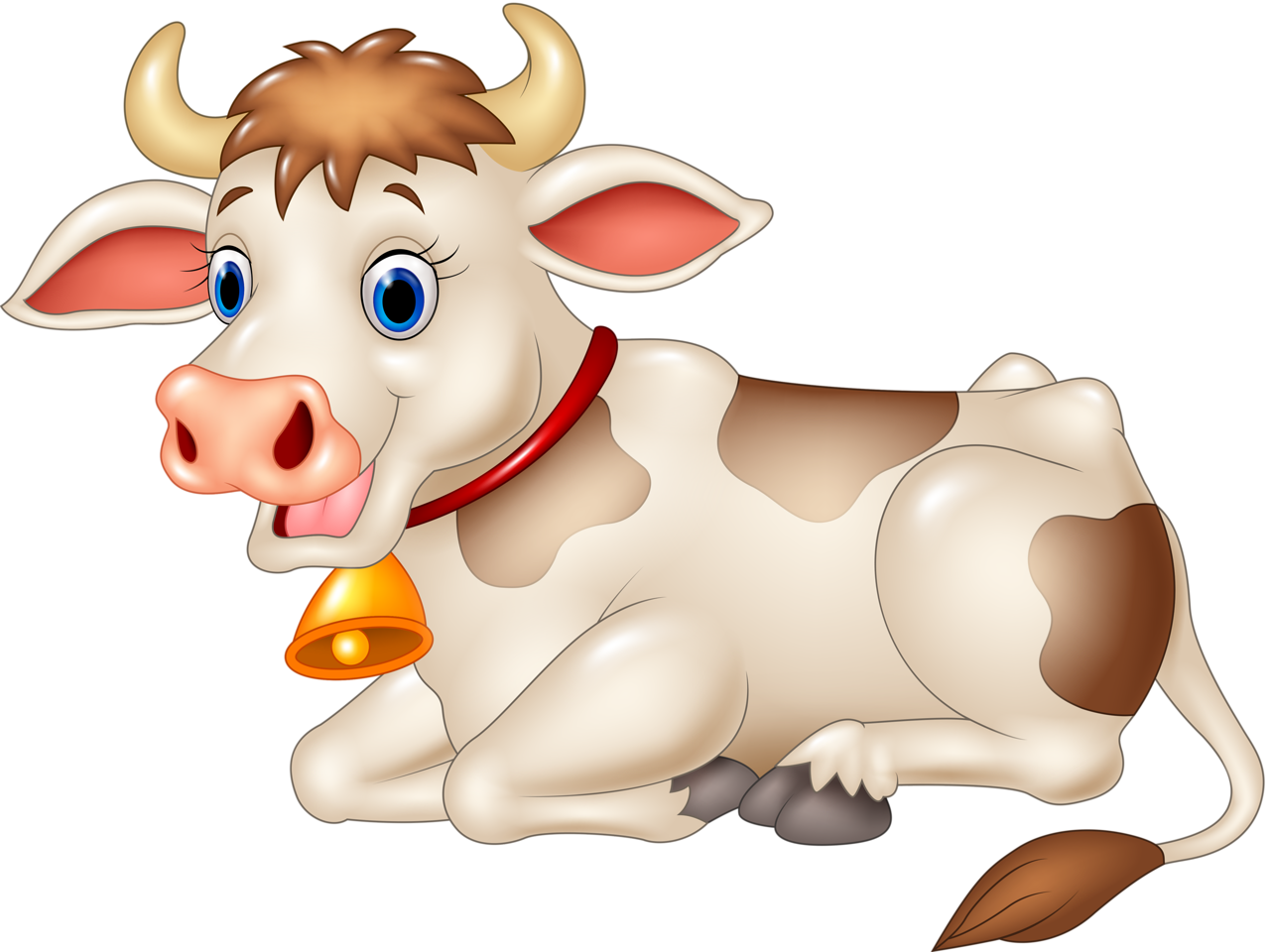 Funny cartoon animals vector. Farmers clipart cattle farming