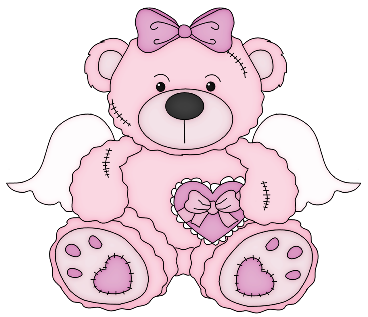 Clipart bear baby bear. Pink valentine teddy png