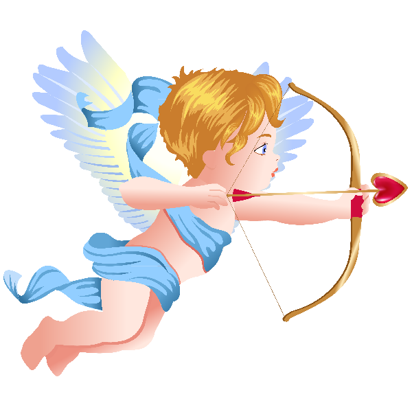 Cupid boy and girl. Wing clipart baby angel
