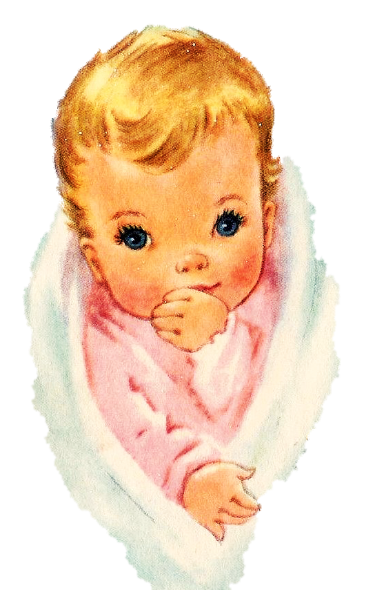Infant clipart baby hair. Blanket child greeting note