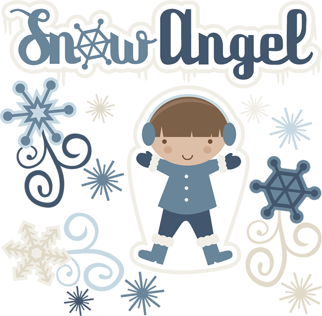 Clipart snow angle. Winter angel pencil and