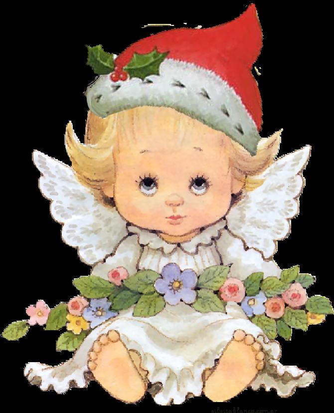 angelitos navide os. Clipart angel winter