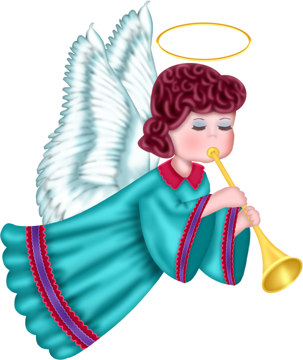 Cute with blue robe. Words clipart angel