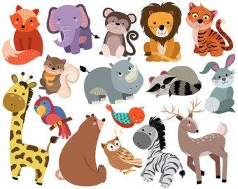 Clipart animals. Animal clip art etsy