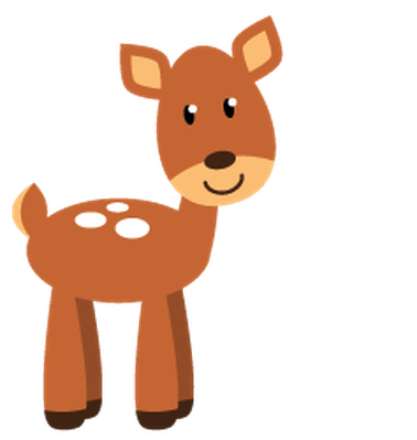 Animals clipart forest. Cute woodland and the