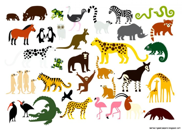 Clipart animals. Zoo animal cliparting