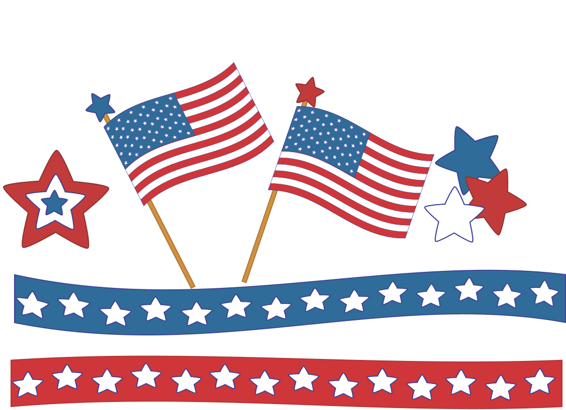 Usa clipart file. Fourth of july happy