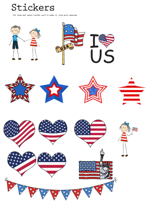th of sticker. Scrapbook clipart 4th july