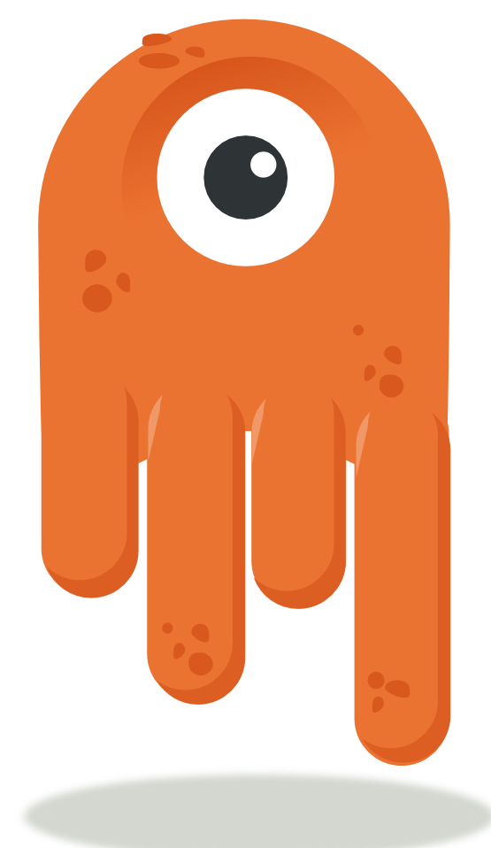 One eyed mascot . Pet clipart alien