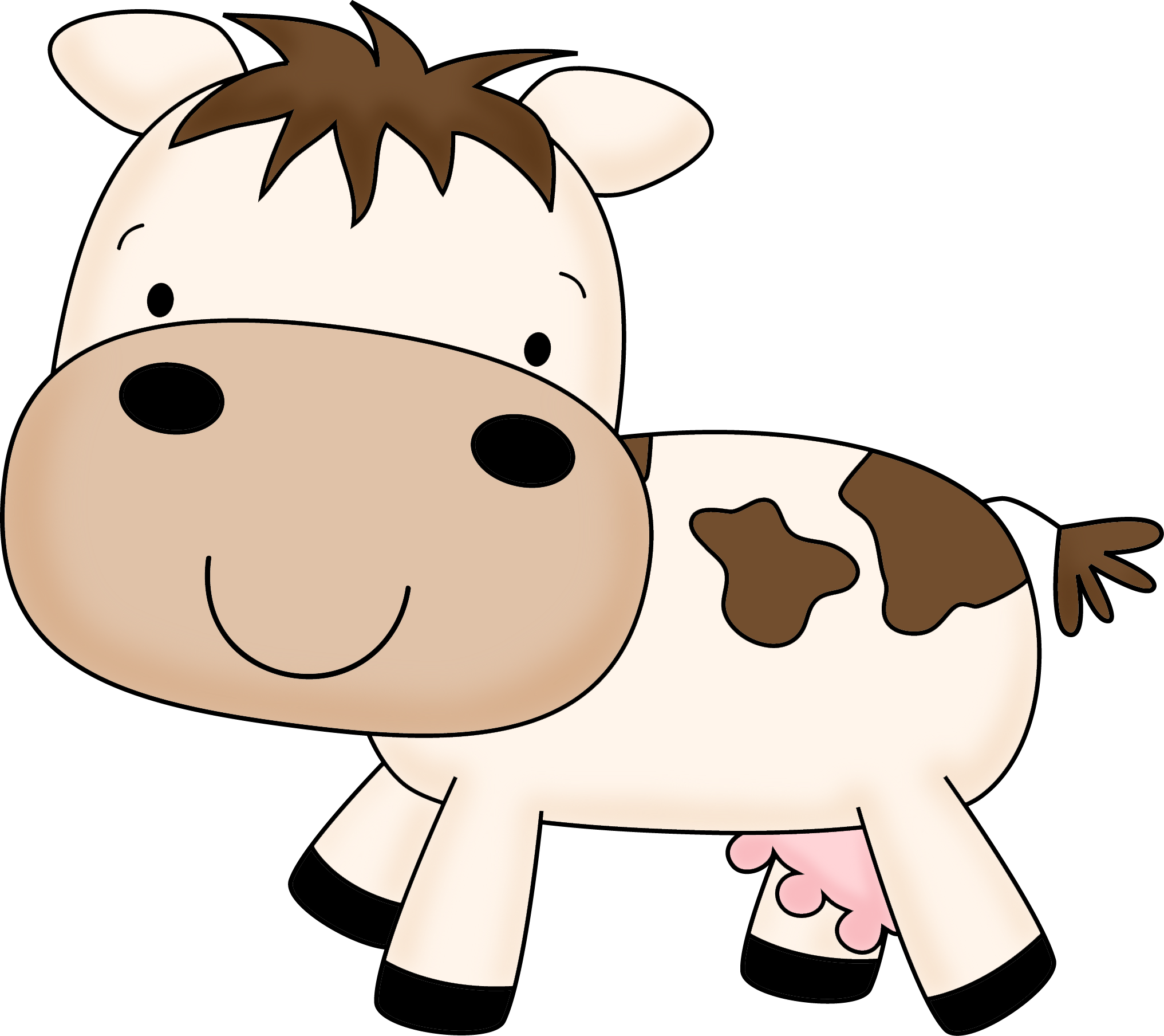 Cows clipart fence. Farm animals at getdrawings