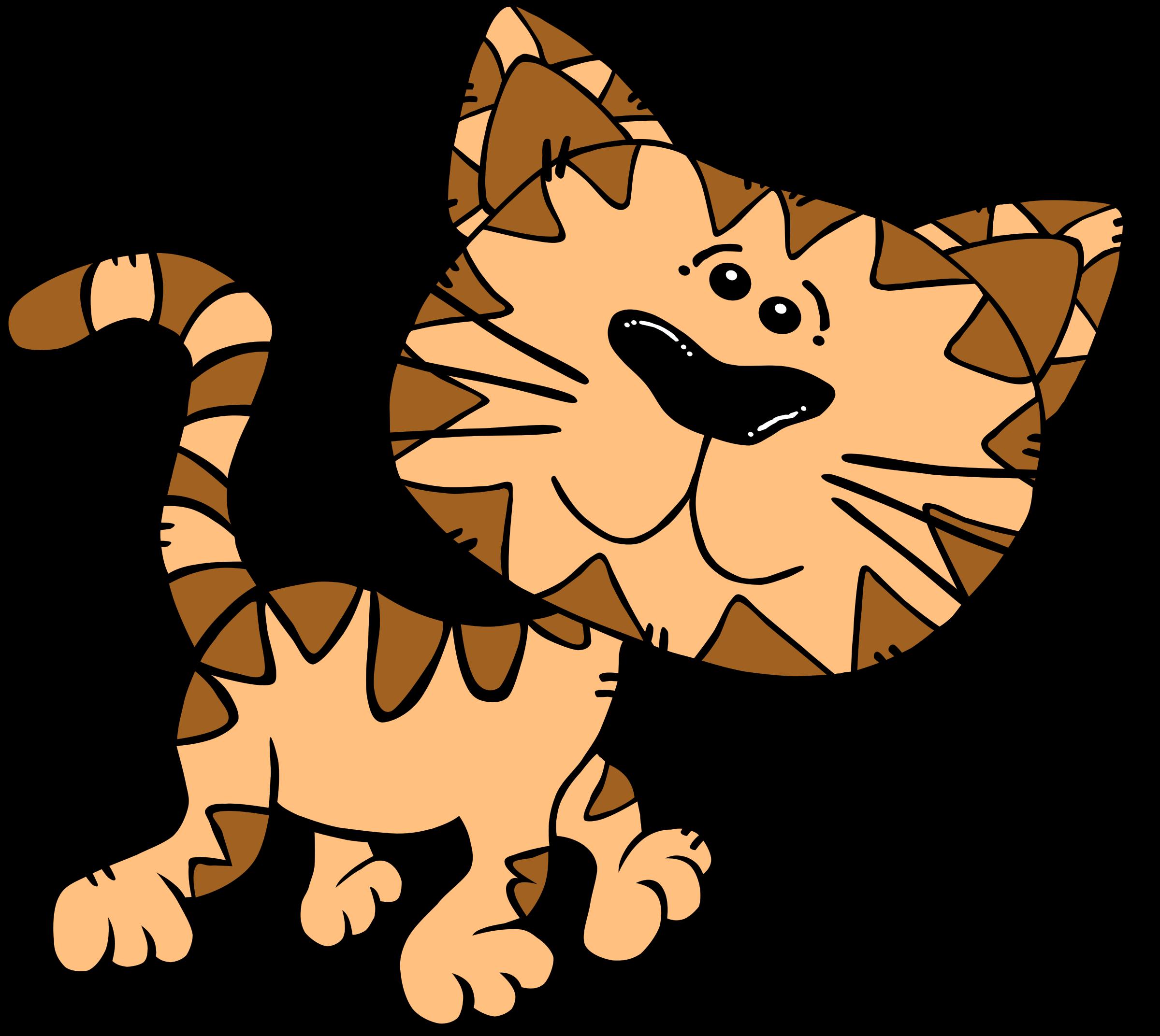 Cat big image png. Clipart walking cartoon
